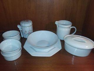 Assorted White Porcelain China