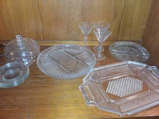 Various Glass Decor and Dishes