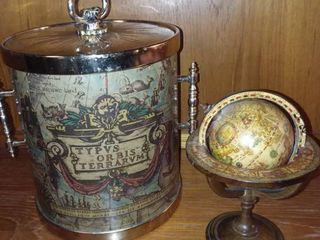 Ice Bucket and Desk Mini Globe