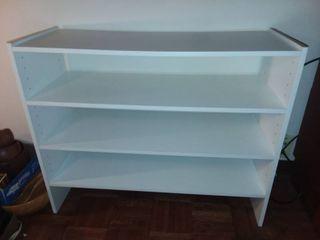 White Wood Bookshelf 25 x 31 x 12 in