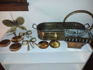 Brass Planter Boxes with Assorted Brass