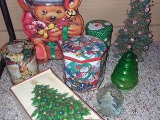 Christmas Tins and Christmas Tree Decor