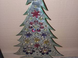 Vintage Tin Christmas Tree Decor