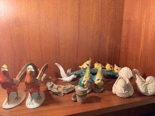 Assorted bird decor