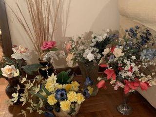 Assorted flowers arrangements