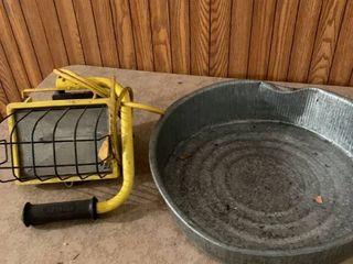 Oil pan and lamp