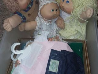 Vintage Cabbaage Patch Dolls and CPK Doll Clothes