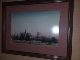 Charles Sanderson Framed Art 29 x 22 in