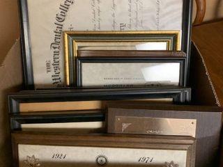 Miscellaneous framed awards