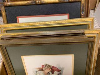 Various sized framed art