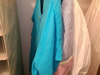 lADIES ROBE  PAJAMAS and SWIM SUIT and COVER UP  Sizes Medium and large