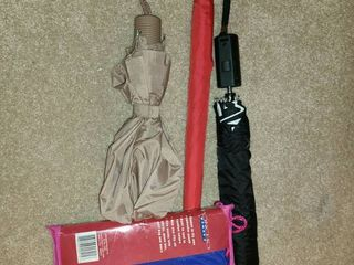 3 UMBREllAS and a lADIES PONCHO  Size large