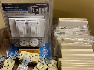 Assorted outlets switches and covers