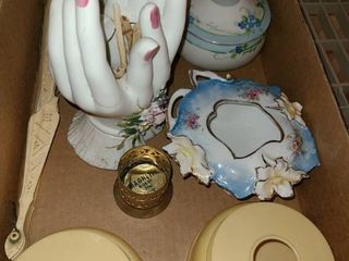 Jewelry Holders  Hand Held Fan and a 3 pcs  CEllUlOID SET