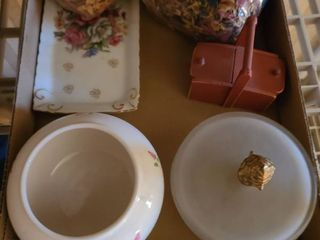Dresser Top Items little dishes  potpourri and other small items