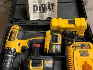 DeWalt cordless drill with drillbits