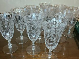 12 Pcs  Glass Ware  with nice etching