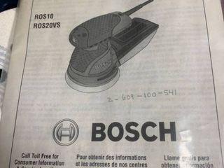 A Bosch sander