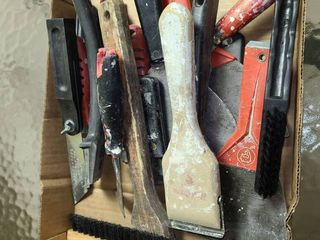 Scrappers  putty knives and other items