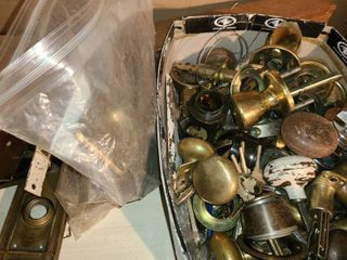 Old Door Knobs  locks and other miscellaneous lock items