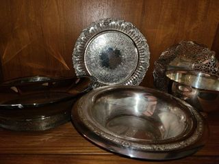 Silverplated Serving Dishes and Serving Bowls