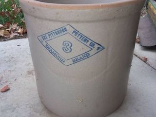 Pittsburgh Pottery Co No 3 Crock