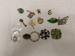 ladies jewelry  12 pins  one ring and one watch