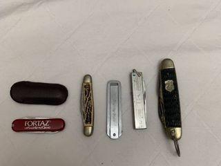 Five pocket knives