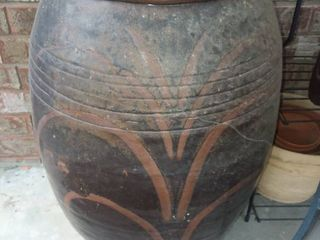 large Pottery Urn 27 x 20 x 20 in with Potting Soil