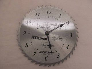 Craftsman wall clock