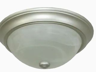 Project Source 13 in W Satin Nickel Ceiling Flush Mount light
