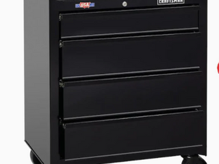 CRAFTSMAN Standard Duty 26 5 in W x 32 5 in H 4 Drawer Ball bearing Steel Tool Cabinet  Black