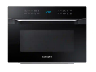 Samsung   1 2 cu  ft  Countertop Convection Microwave with PowerGrill   Black
