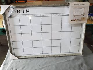 Sheffield Home Dry Erase Calendar DAMAGE  CRACKED FRAME