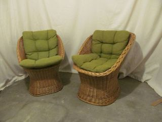 Wicker basket chairs