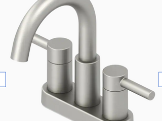 Jacuzzi Duncan Brushed Nickel Pvd 2 handle 4 in Centerset Watersense Faucet