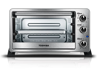 Toshiba MC25CEY CHSS 6 Slice Convection Toaster Oven  Stainless Steel