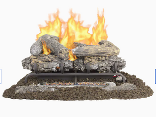Pleasant Hearth 24 In  Vent free Dual Fuel Gas Fireplace logs