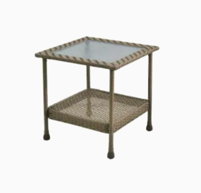 Glenlee Side Table Gray Wicker