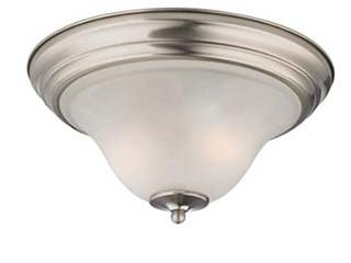 Elk lighting 1402FM 20 Kingston 2 light Flush Mount  Brushed Nickel Finish