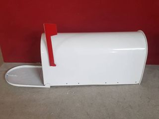 Gibraltar Mailboxes Elite large Post Mount Mailbox White