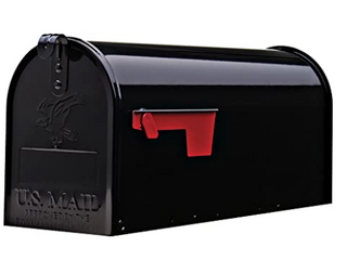 Gibraltar Elite Medium  Galvanized Steel  Black Post Mount Mailbox