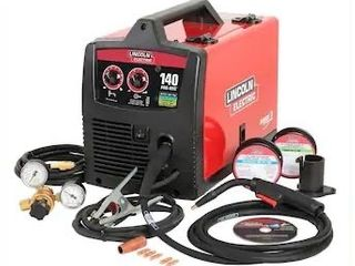 lincoln Electric 120 Volt 140 Amp Mig Flux cored Wire Feed Welder