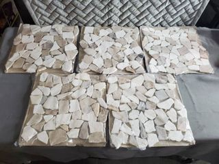 America Olean 1 00sq ft Stone Mosaic  1364396 SET OF 5