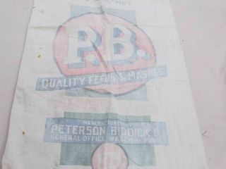 Vintage cloth feed bag