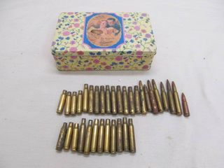 Vintage chocolate tin  ammo