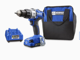 Kobalt 24v MAX Cordless Drill w 24v MAX Battery Pack  Carry Bag and Charger