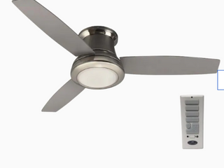 Harbor Breeze Sail Stream 52 in Brushed Nickel Flush Mount Indoor Ceiling Fan with light Kit and Remote  3 Blade