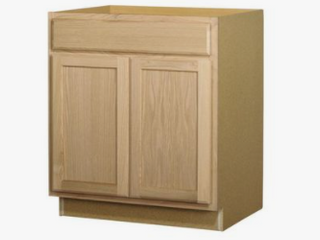 Kitchen Classics 30 in W x 35 in H x 23 75 in D Unfinished Ready to Oak Door and Drawer Base Cabinet