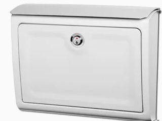 A White Whitman locking Wall Mount Mailbox